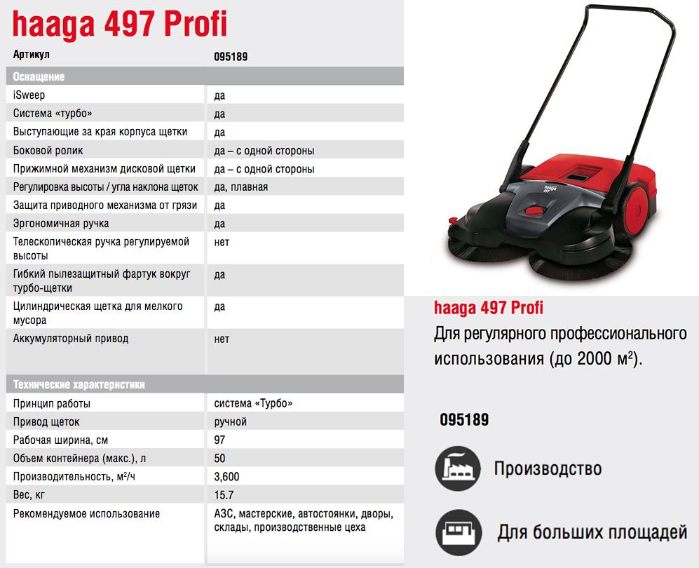 Подметальная машина Starmix Haaga 497 Profi